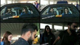 Virat Kohli Leaves For Bangalore to Join RCB Along With Anushka Sharma For IPL 2019 | WATCH VIDEO