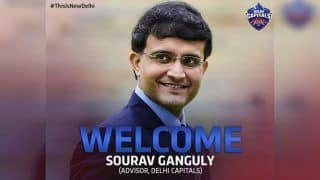 IPL 2019: Delhi Capitals Appoint Sourav Ganguly as Advisor For Upcoming Season