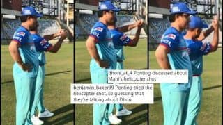 Was Sourav Ganguly, Ricky Ponting Discussing MS Dhoni's Helicopter Shot Ahead of IPL 2019, Twitter Fans Reckon so   WATCH VIDEO