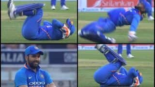Rohit Sharma's Expression as Rishabh Pant Does a WWE Star Shawn Michael's 'Kip-up' Move During 5th ODI is Unmissable | WATCH VIDEO