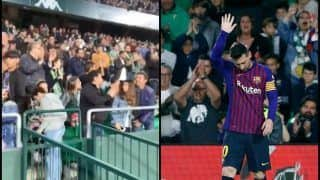Lionel Messi Gets Standing Ovation From Real Betis Fans After Breathtaking Goal in Barcelona's 4-1 Thumping | WATCH VIDEO