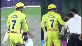 IPL 2019: Fan Breaches Security Again, Touch MS Dhoni's Feet at Kotla During DC vs CSK Tie | WATCH VIDEO