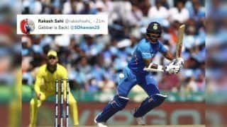 4th ODI: Shikhar Dhawan Slams 16th Century at Mohali Against Australia, Twitter Lauds Gabbar | SEE POSTS