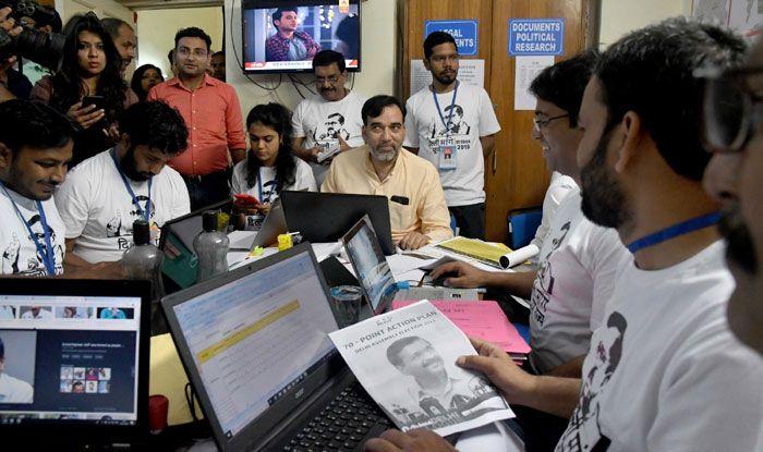 AAP leader Gopal Rai at launch of 'War Room'