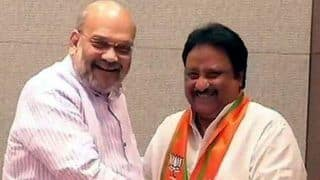 Outgoing TRS MP AP Jithender Reddy Joins BJP After he is Denied Poll Ticket