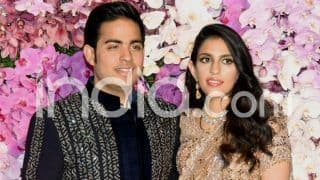 Akash Ambani-Shloka Mehta Post-Wedding Dinner: Newly-Weds Arrive at The Jio World Centre in Dazzling Outfits, See Pictures