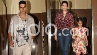 Akshay Kumar Enjoys a Movie Date With Wife Twinkle Khanna And Daughter Nitara, See Pictures