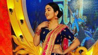 Bhojpuri Bombshell Amrapali Dubey Looks Super Hot in Royal Blue Lehenga as She Twirls Around on The Sets of Memsaab Number 1