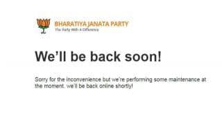 BJP Official Website -www.bjp.org Down For Sixth Consecutive Day, Experts Say 'it Can't Remain in Maintenance Mode For so Long'