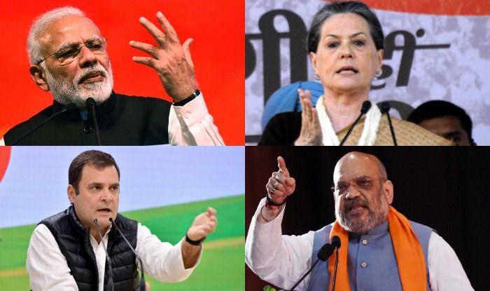 Narendra Modi, Sonia Gandhi, Amit Shah and Rahul Gandhi