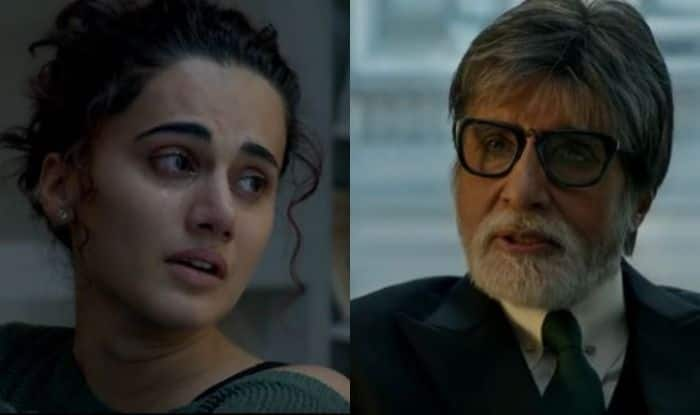 Taapsee Pannu and Amitabh Bachchan in stills from Badla