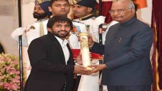 Padma Awards: President Ram Nath Kovind Confers Top Honours on Bajrang Punia, Sharath Kamal, Sunil Chhetri, Ajay Thakur at Rashtrapati Bhavan in Delhi | SEE PICS