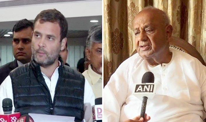Lok Sabha Elections 2019: Rahul Gandhi to Meet H D Deve Gowda to Discuss Seat-sharing in Karnataka