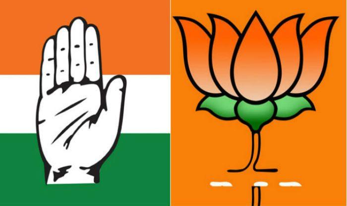Congress and BJP logos