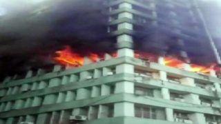 Delhi: Fire Breaks Out on Fifth Floor of Pandit Deendayal Antyodaya Bhawan; 24 Fire Tenders at Spot