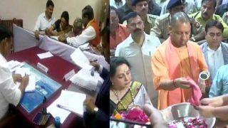 हेमा मालिनी ने मथुरा लोकसभा सीट से भरा पर्चा, सीएम योगी ने सपा, बसपा और कांग्रेस पर किए हमले