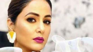 Hina Khan Looks Hot And Sexy in Shimmery White Dress as She Flaunts Her 'Komolicious' Swag in Latest Monochrome Picture