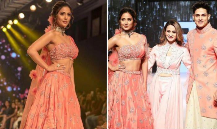 Hina Khan and priyank sharma walked the ramp for Sonali Jain