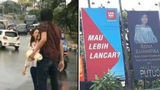 Indonesian Man Goes Savage After he Finds Out About His Girlfriend Cheating on Him, Announces Breakup on Billboards - Watch Viral Video