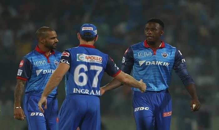 Kagiso Rabada celebrates Delhi's win over Kolkata in match 10 of IPL 2019_BCCI