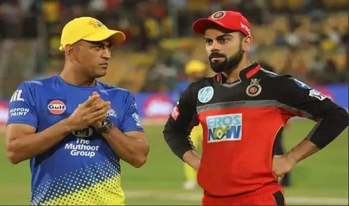 Kohli and Dhoni in Indian T20 League