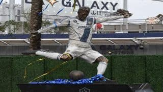 MLS Side LA Galaxy Unveils David Beckham's Statue on Season's Opening Day