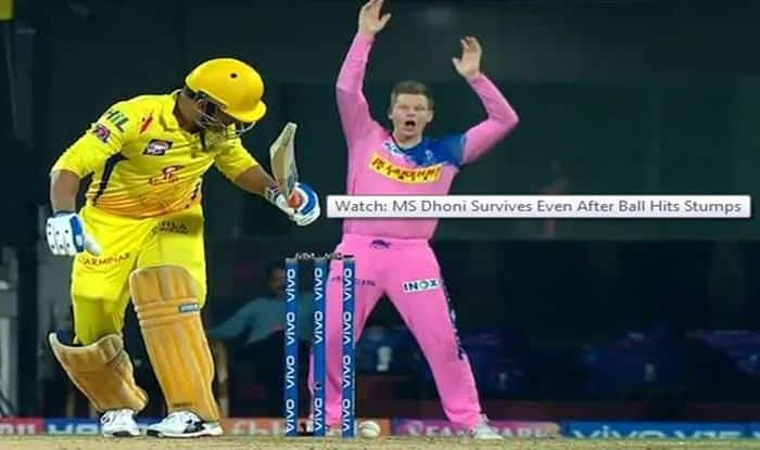 IPL 2019: MS Dhoni Gets Another Life During Match 12 vs Rajasthan Royals After Ball Hits Stumps | WATCH VIDEO