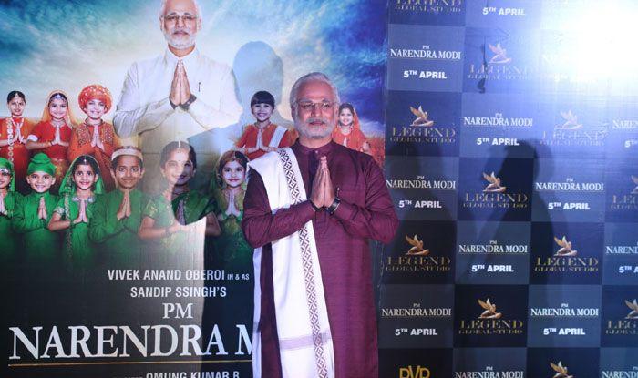Actor Vivek Oberoi dressed up as Prime Minister Narendra Modi