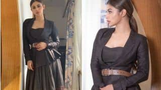Television Sizzler Mouni Roy Looks Hot in Grey Coat And Floral Skirt During The Promotions of RAW, Pictures Will Make You go Crazy