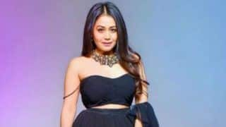 Neha Kakkar Looks Smoking Hot in Gorgeous Black Crop Top And Fluffy Long Skirt in Her Latest Photoshoot