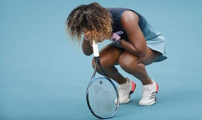 Osaka dejected after losing in the roun0of-16 of Miami Open_picture credits-Twitter