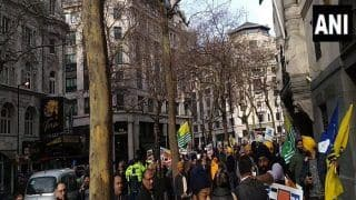 London: Clash Breaks Out Outside Indian High Commission Between UK-based Kashmiri And Pro-Khalistan Outfits