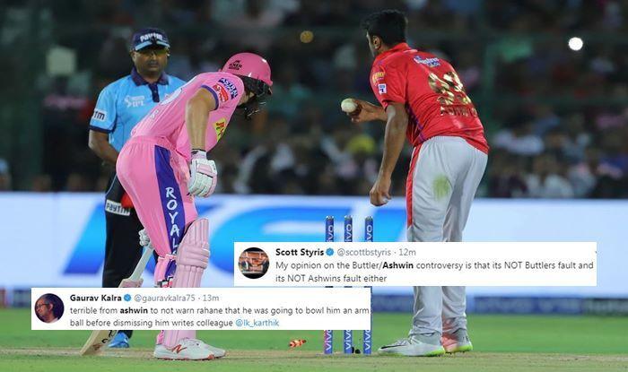 IPL 2019: Ravichandran Ashwin Mankads Jos Buttler to Dent RR's Charge vs KXIP, Twitter Slams Punjab Captain For Going Against Spirit of Game