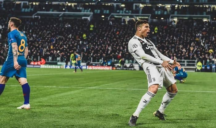 Ronaldo's celebration against Atletico Madrid_Picture credits-Twitter