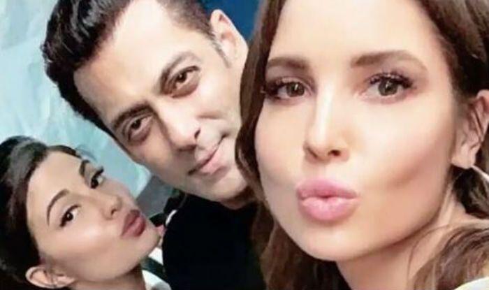 Salman Khan Meets Jacqueline Fernandez Along With Her Doppelganger Amanda Cerny