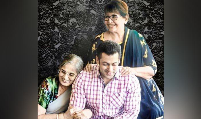 Salman Khan with Salma Khan and Helen