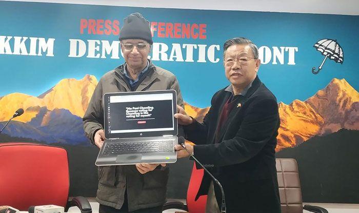Sikkim Democratic Front. Photo Courtesy: IANS