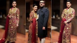 Sonali Bendre is a Sight to Behold in Abu Jani Sandeep Khosla Outfit With Short Hair