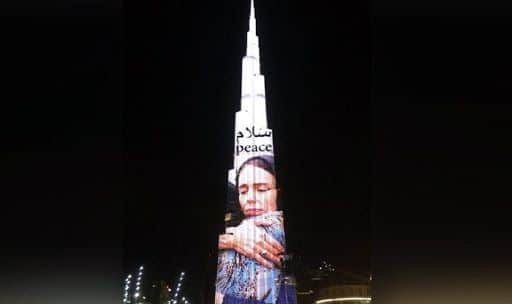 Christchurch Attack: UAE Thanks New Zealand PM Jacinda Ardern For Support to Muslims, Projects Her Picture on Burj Khalifa
