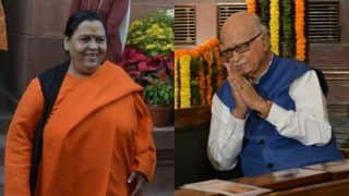 BJP's Uma Bharti Says Only LK Advani Can Clear The Air on Why he Was Not Named Candidate For Lok Sabha Polls