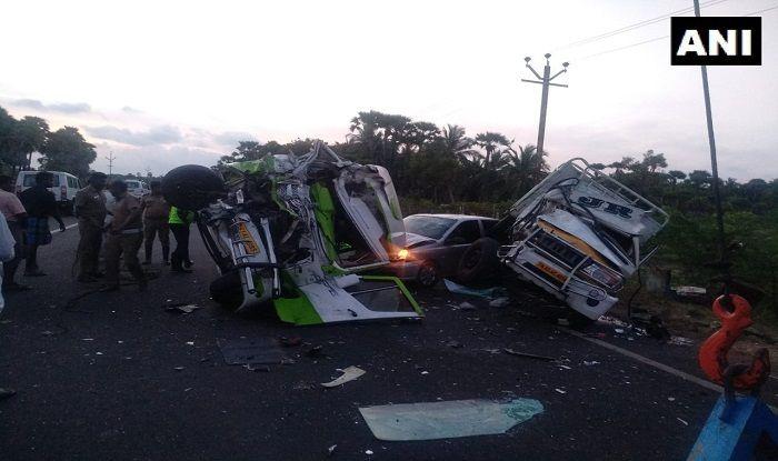 Vehicle collision in Tamil Nadu