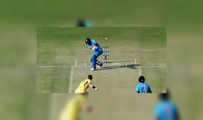 4th ODI: Virat Kohli Attempts Most Outrageous Shot Ever Against Jason Behrendorff During Australia in Mohali   WATCH VIDEO