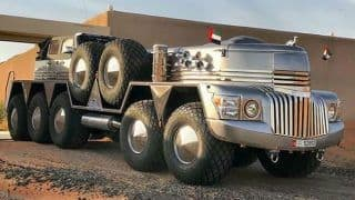 Dubai Sheikh Builds World's Biggest SUV named 'Dhabiyan' And it is no Less Than Transformer