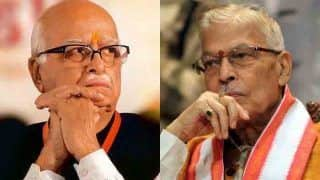 Ram Mandir Bhumi Pujan: BJP Veterans LK Advani, MM Joshi Likely to Attend The Event Via Video Conference, Say Reports
