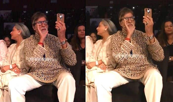 Amitabh Bachchan Whistles And Asks Videographer to Not Block His Vision While Filming Daughter Shweta Bachchan at a Fashion Show-Watch