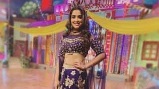 Bhojpuri Actress Amrapali Dubey Looks Her Sexiest Best in Dark Purple And Golden Lehenga