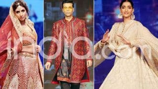 Sonam, Shweta, KJo Walk The Ramp For Abu Jani & Sandeep Khosla