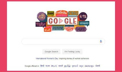 International Womens Day 2019 Google Doodle Features Woman