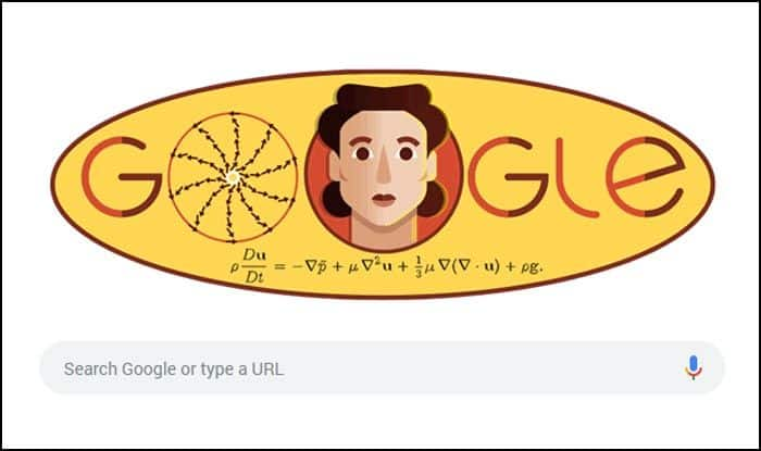 Google celebrates Russian Mathematician Olga Ladyzhenskaya's 97th Birth anniversary with a doodle