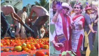 टमाटर, फूल तो कहीं गुलाल बरसाकर मनाई जा रही होली, राष्ट्रपति, पीएम मोदी और राहुल गांधी ने दी बधाई